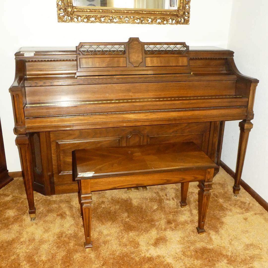 Lot # 164 - Lowrey Console Piano & Piano Bench (main image)