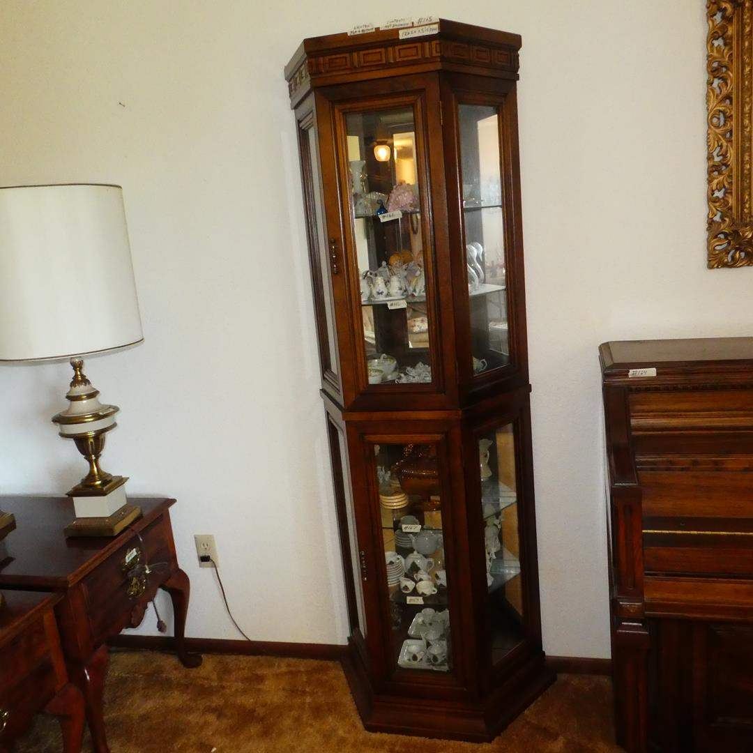 Lot # 168 - Lighted Curio Cabinet - Contents not Included (main image)