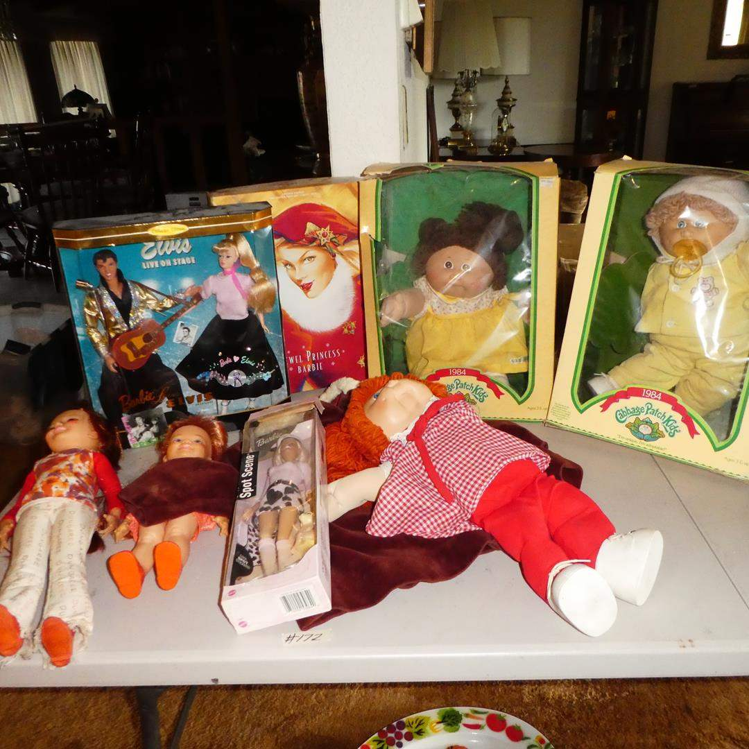 Lot # 172 - Collectible Barbie Dolls, Elvis, Cabbage Patch Kids & Crissy Doll (main image)