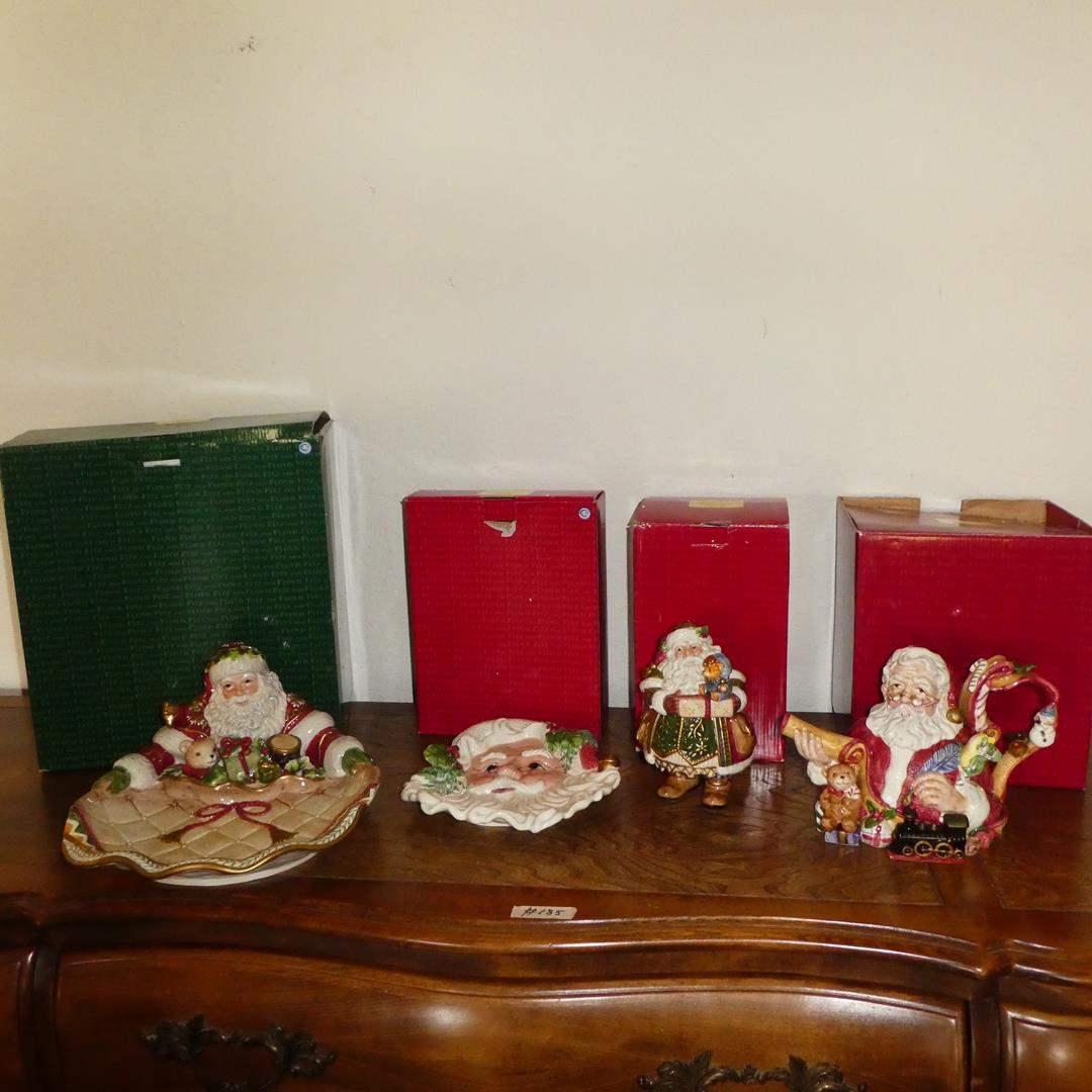 Lot # 185 - Four 'Fitz & Floyd' Holiday Classics w/Original Boxes (main image)