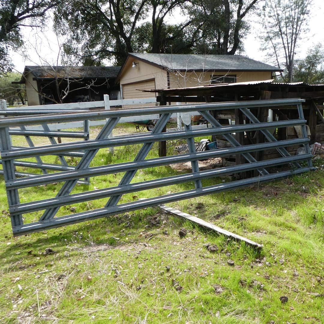 Lot # 201 - 14' x 4' Galvanized Metal Gate  (main image)