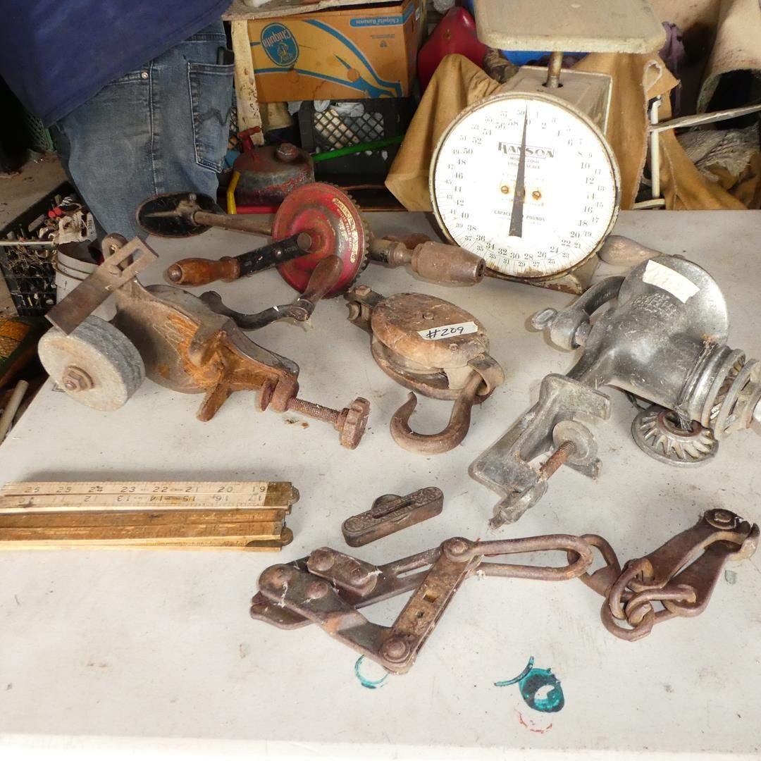 Lot # 209 - Vintage Tools & Universal Food Chopper (main image)
