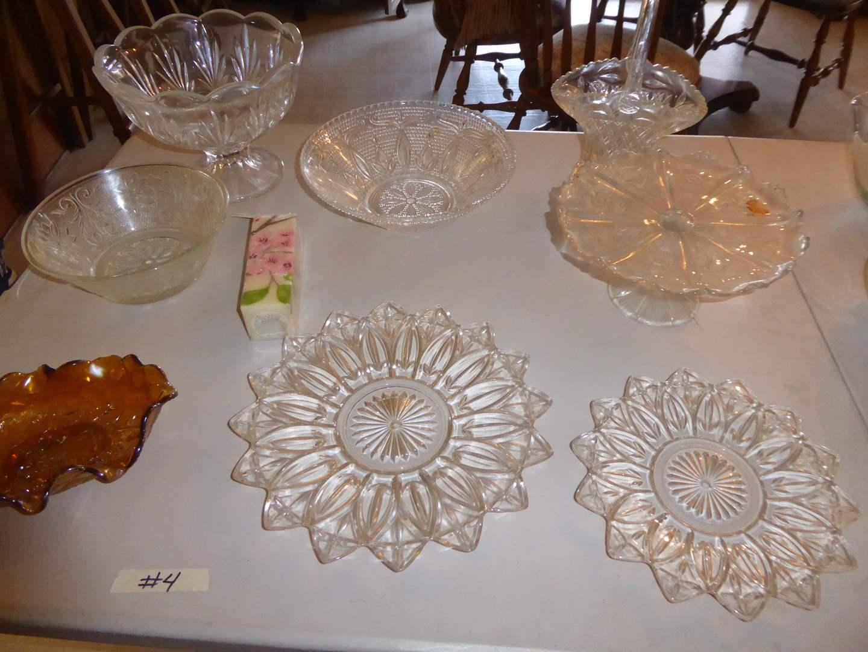 Lot # 4 - Glass Serving Plates & Bowls  (main image)
