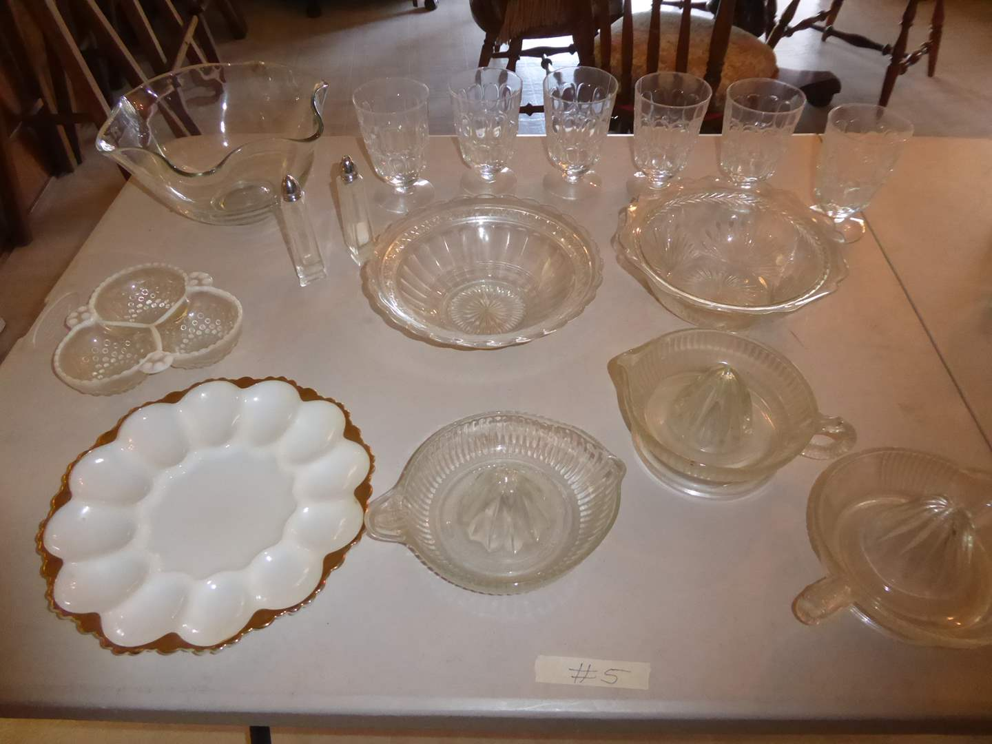 Lot # 5 - Citrus Reamers, Stemmed Glasses & Serving Dishes  (main image)