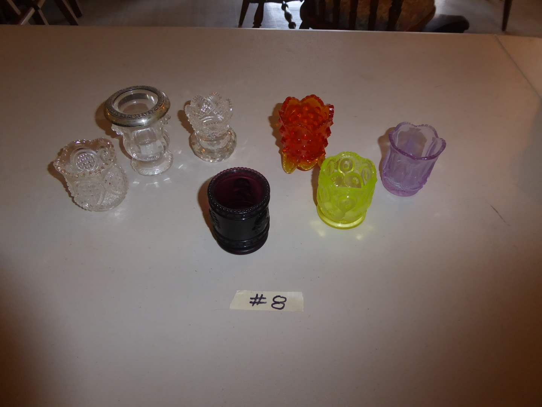 Lot # 8 - Vintage Glass Toothpick Holders  (main image)