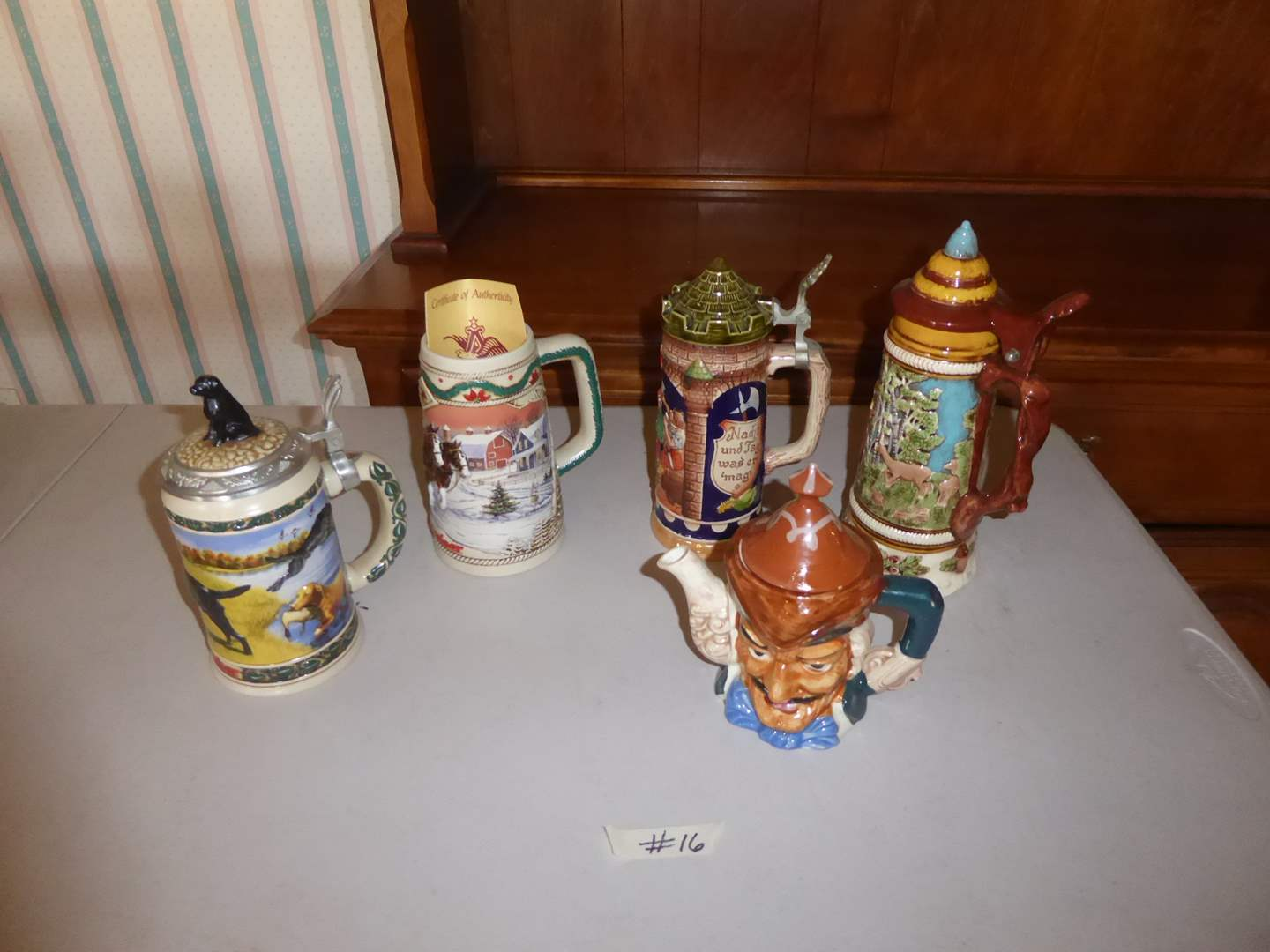 Lot # 16 - Vintage Collectible Steins  (main image)