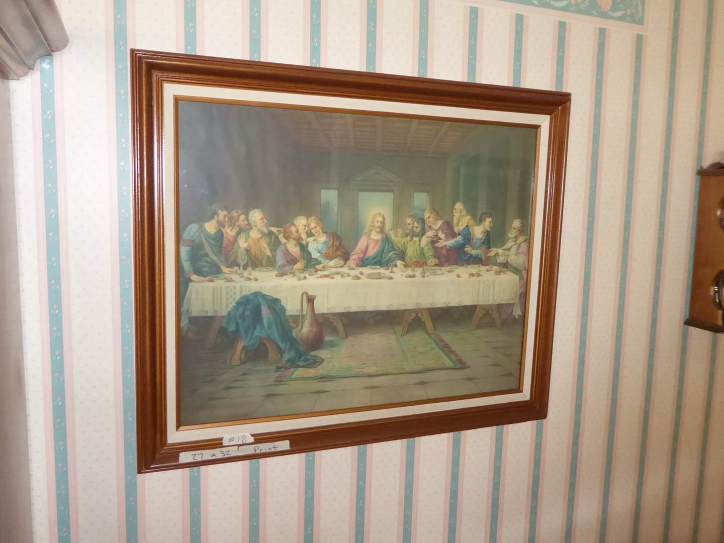 Lot # 18 - The Last Supper Print  (main image)