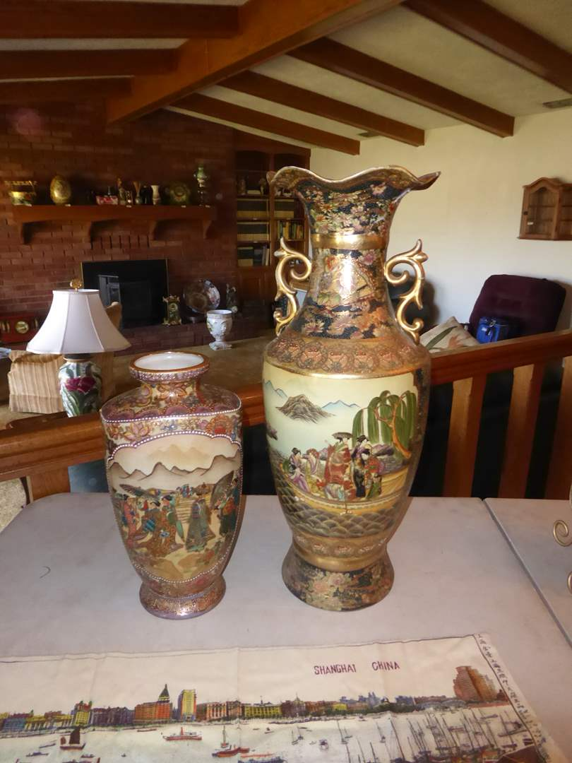 Lot # 35 - Two Vintage Oriental Vases  (main image)