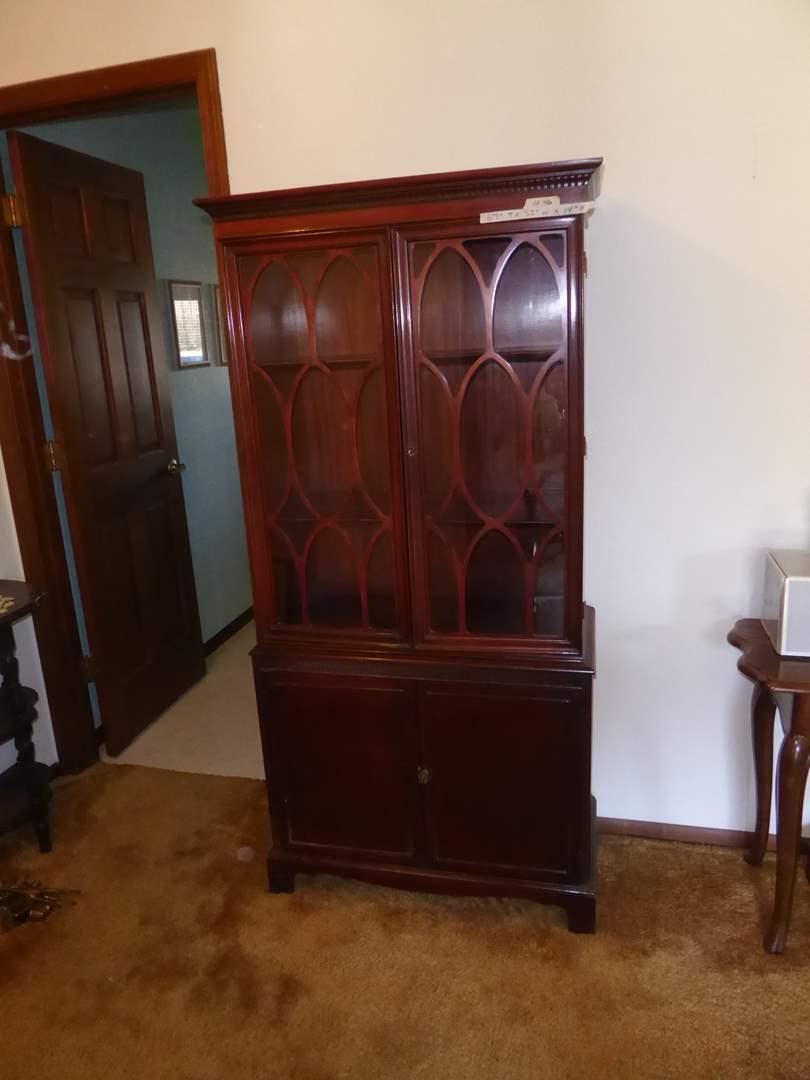Lot # 46 - Antique Curio Cabinet  (main image)