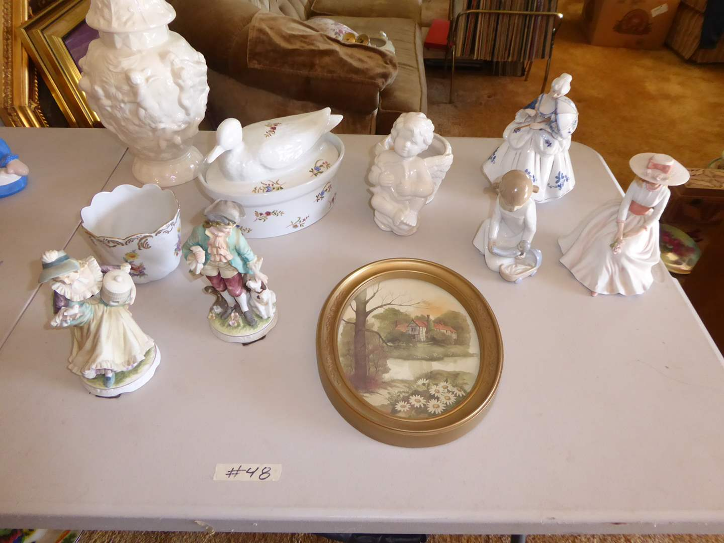 Lot # 48 - Cordon Bleu Serving Dish, Figurines & More  (main image)