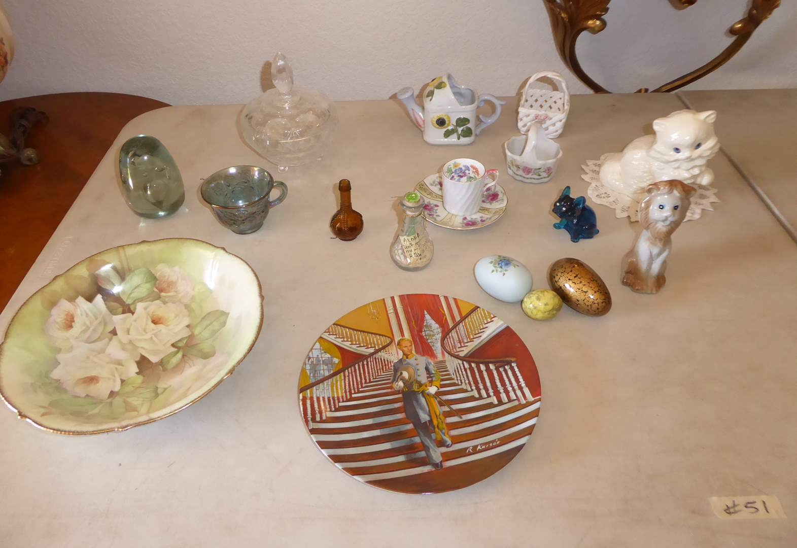 Lot # 51 - Collectible Plates, Figurines & Eggs  (main image)