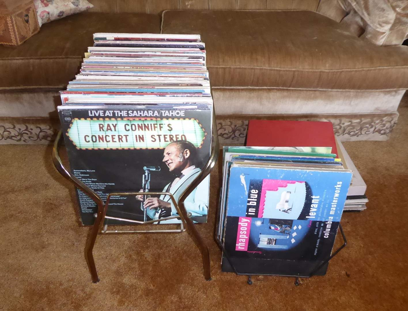 Lot # 54 - Records & Metal Stands  (main image)