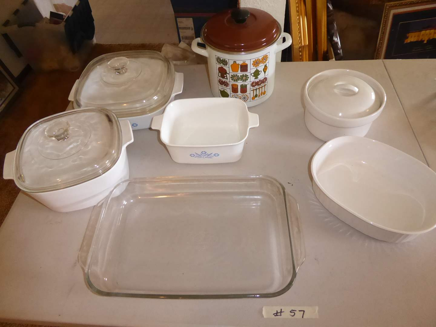 Lot # 57 - Adorable Multi-Purpose Cooker & Corning-ware Baking Dishes   (main image)