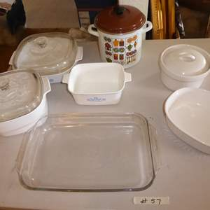 Auction Thumbnail for: Lot # 57 - Adorable Multi-Purpose Cooker & Corning-ware Baking Dishes