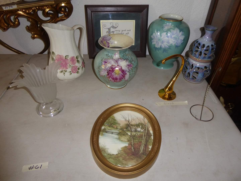 Lot # 61 - Porcelain Vases, Olson Pottery & More (See Details) (main image)