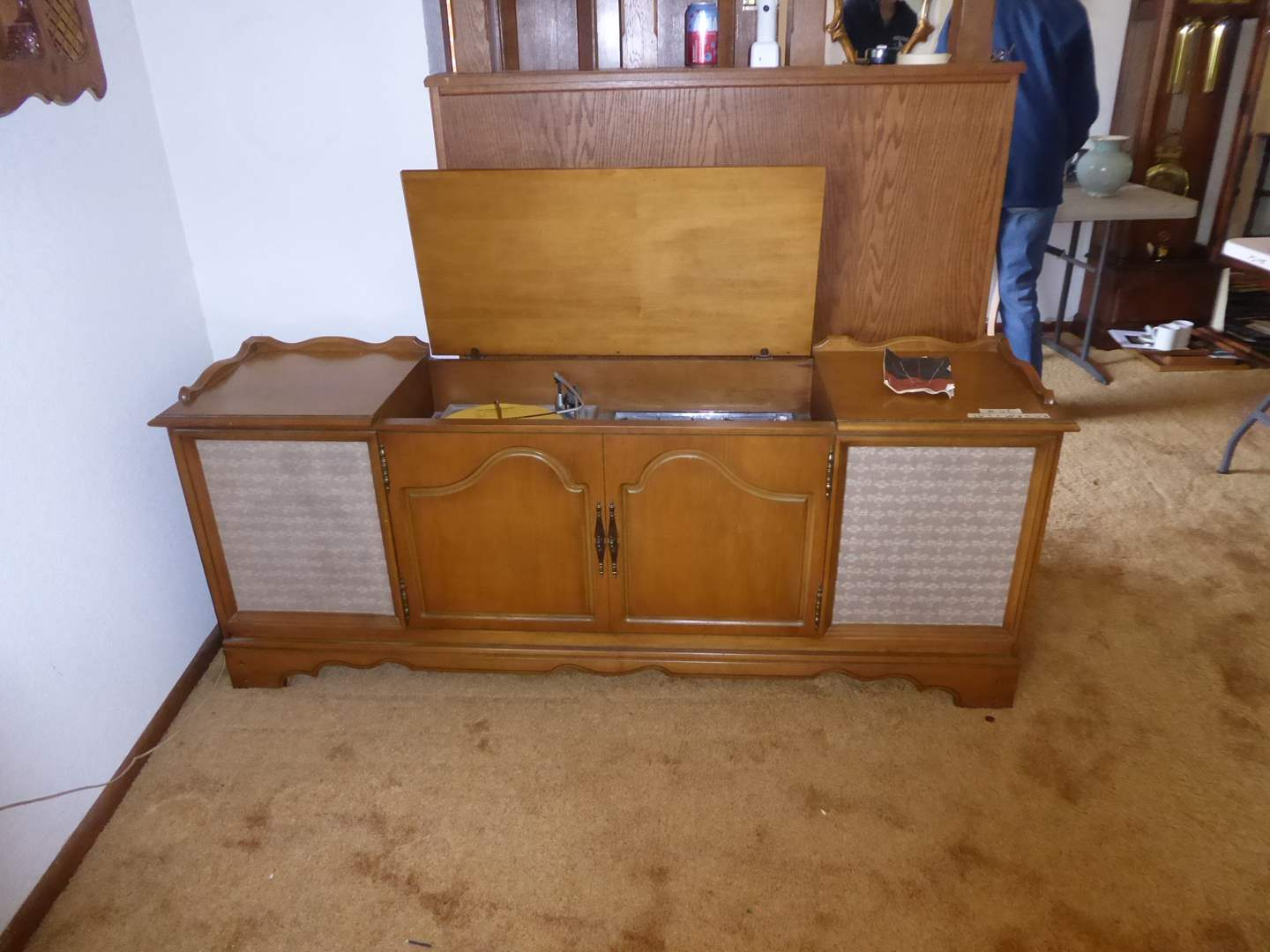 "Lot # 62 - 1960's ""Philco"" Record Player Console Model: P-1744-124 (main image)"
