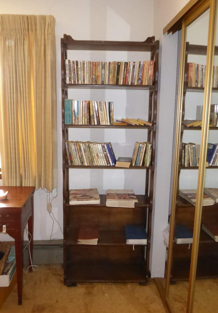 Lot # 67 - Wooden Book Shelf (Includes Books)   (main image)