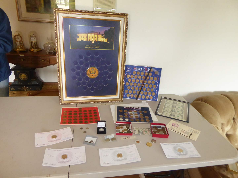 Lot # 74 - Coin Collection & Uncut Dollar Bills  (main image)