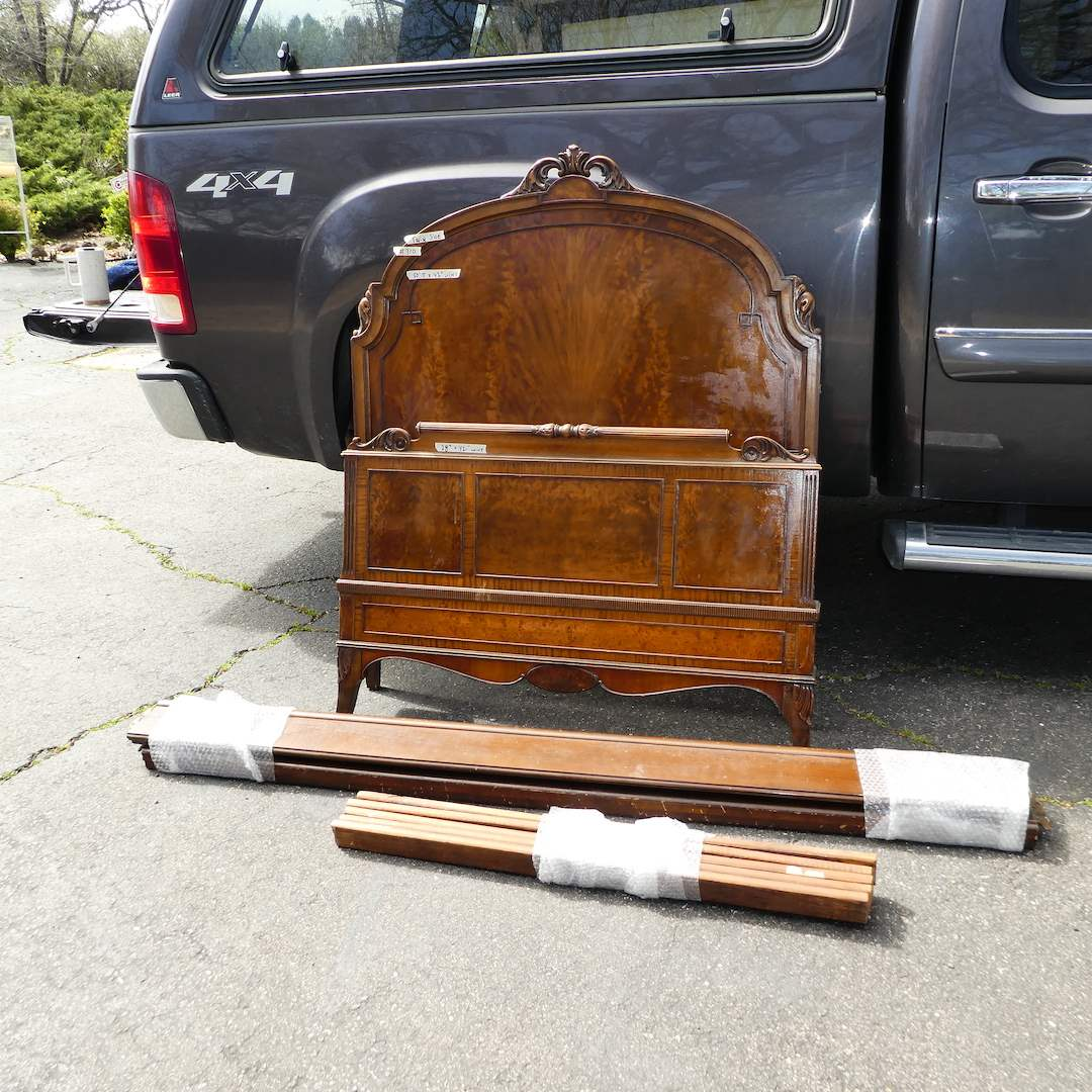 Lot # 310 -Adorable Solid Wood Twin Size Bed Frame w/ Headboard and Footboard (The Lammert Furniture Co.) (main image)