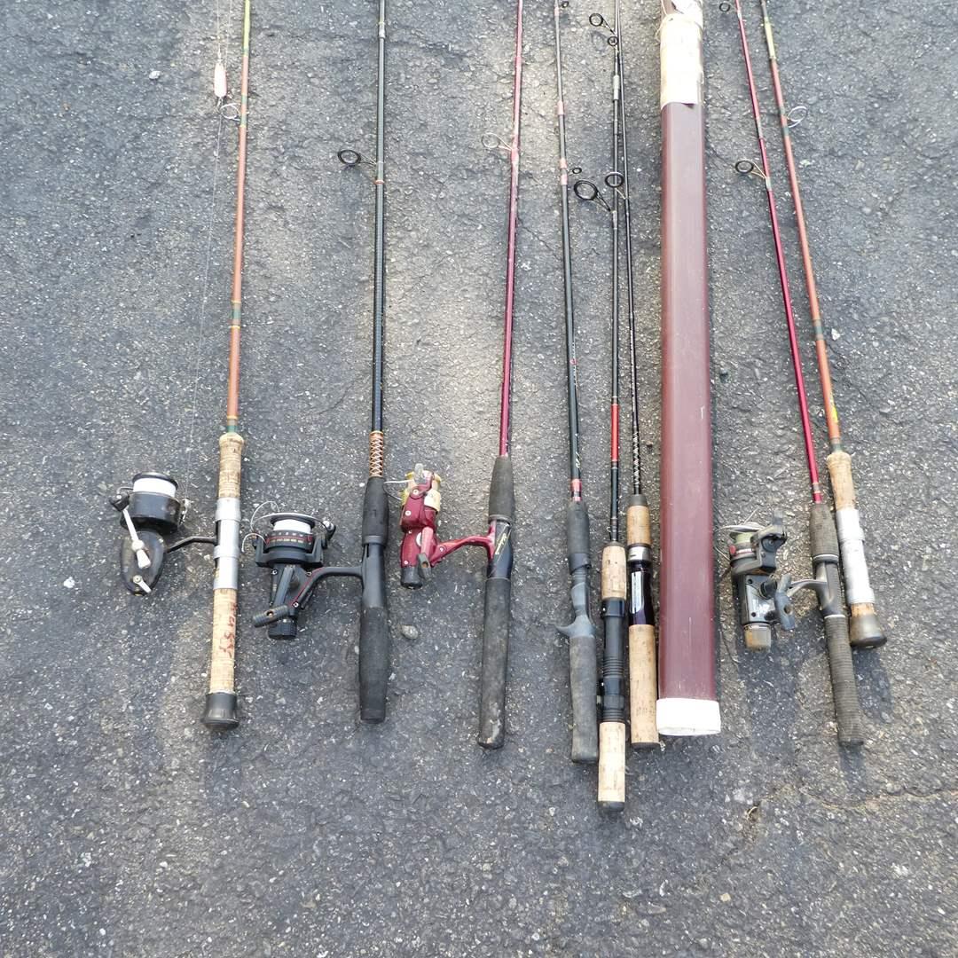 Lot # 342 - Variety of Fishing Poles and Reels (See all Photos) (main image)
