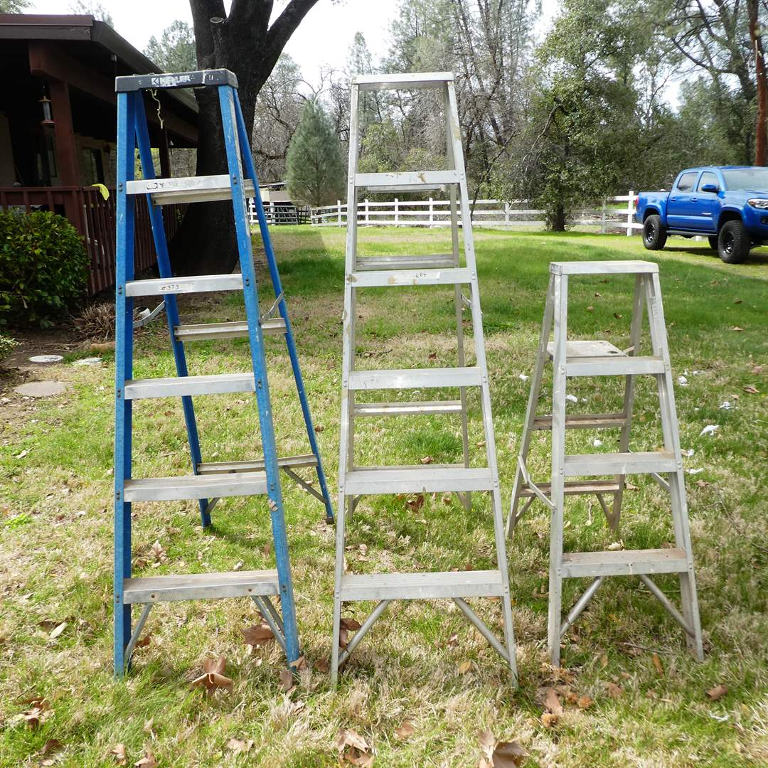 Lot # 373 -  Two Keller 6FT Ladders and 4FT Ladder (main image)
