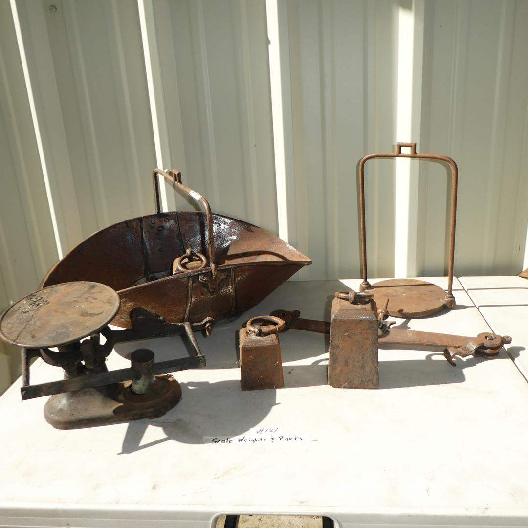 Lot # 121 - Antique Scale, Weights & Parts (main image)