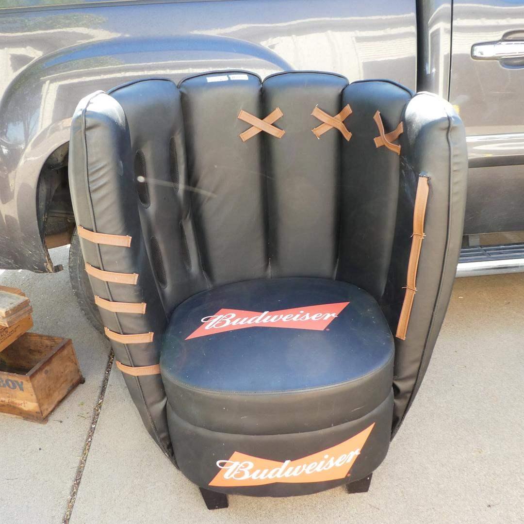 Lot # 126 - Budweiser Baseball Mitt Glove Chair (main image)