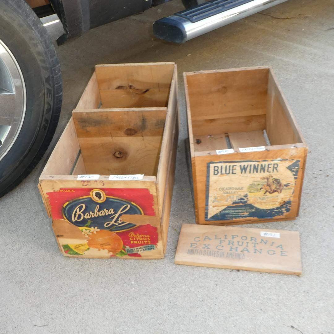 Lot # 131 - Vintage Wooden Fruit Crates (main image)