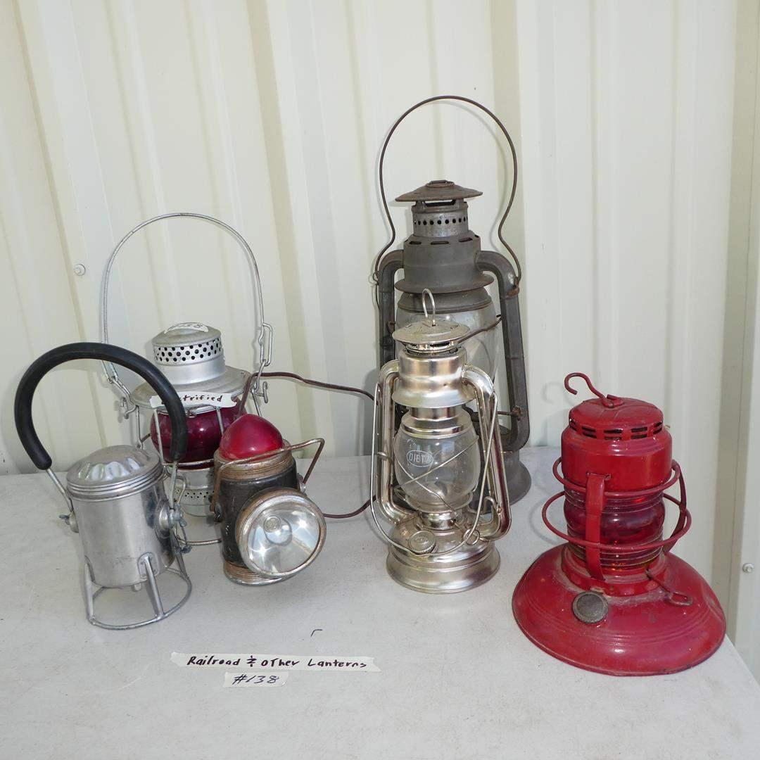 Lot # 138 - Vintage Railroad & Other Lanterns (main image)