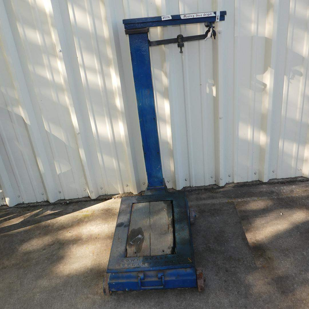 Lot # 156 - Antique 'Howe Scale Co.' Platform Scale - Missing Drop Weight (main image)