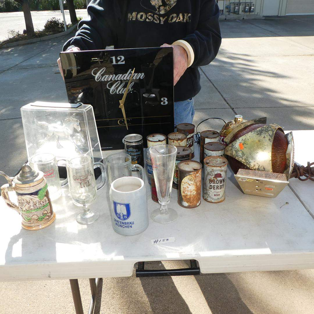 Lot # 158 - Vintage Beer Collectibles - Steins, Mugs, Cans & Lights (main image)