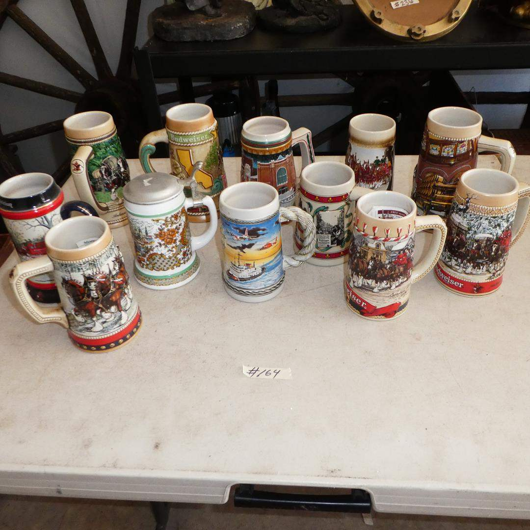 Lot # 164 - Vintage Budweiser Steins Collection (main image)