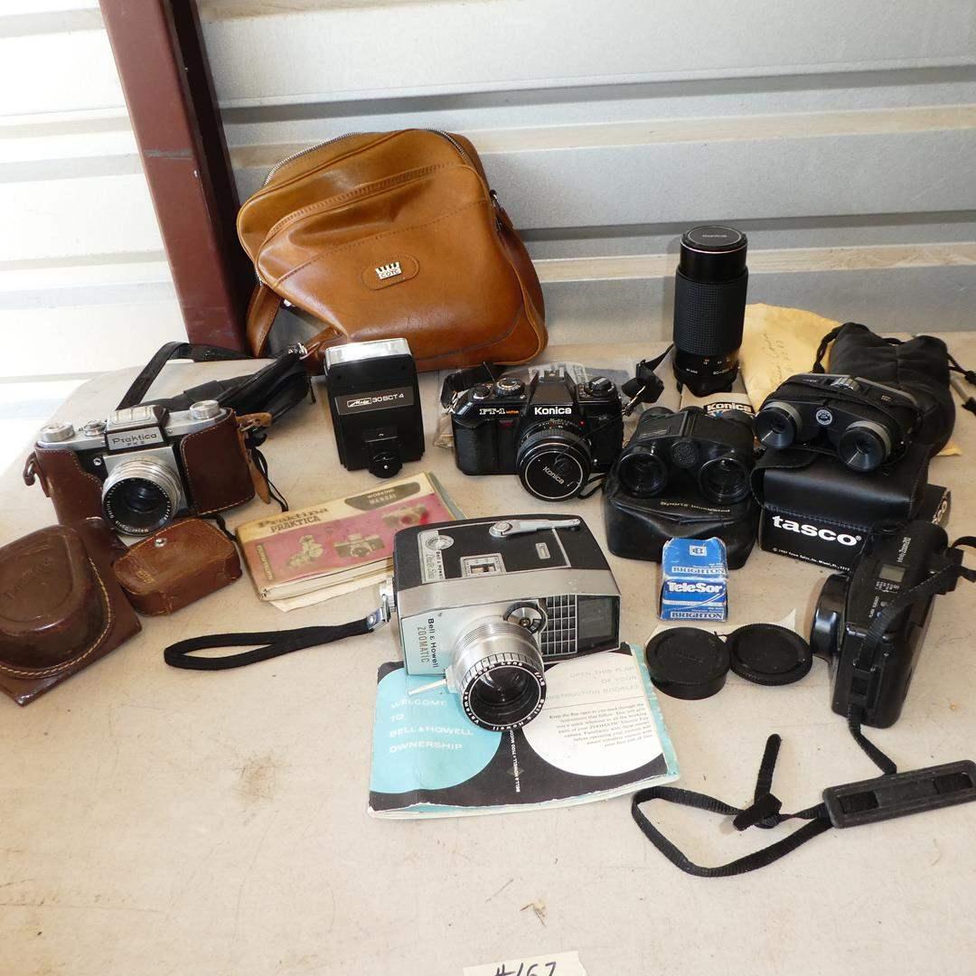 Lot # 167 - Vintage Cameras & Binoculars  (main image)