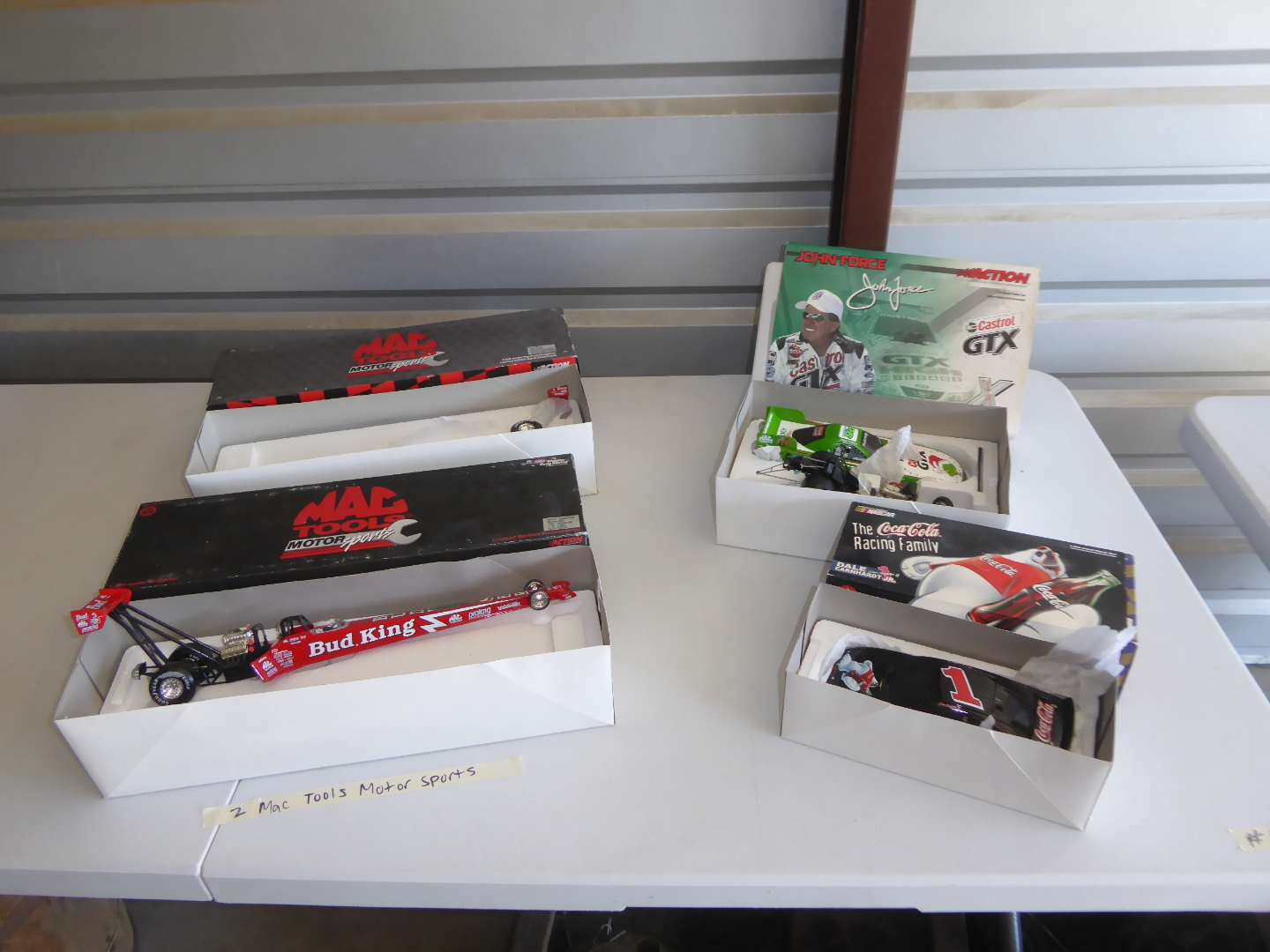 Lot # 19 - Mac Tool Dragsters & Nascar Dale Earnhardt Jr. & John Force Collectible Cars (main image)