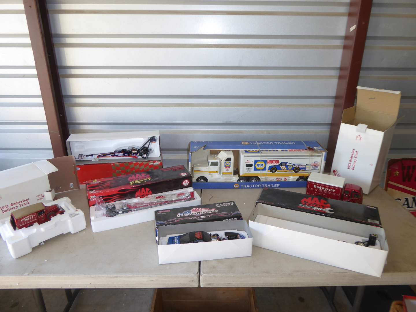 Lot # 20 - NAPA Tractor Trailer, Budweiser Delivery Trucks & Other Adult Collectibles Cars  (main image)