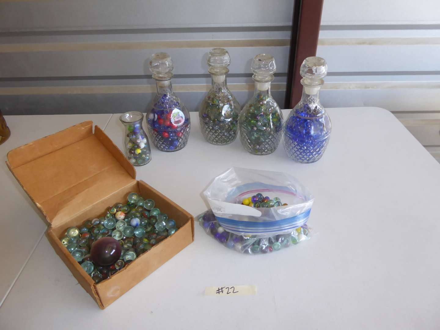 Lot # 22 - Marble Collection & Crown Royal Decanters  (main image)