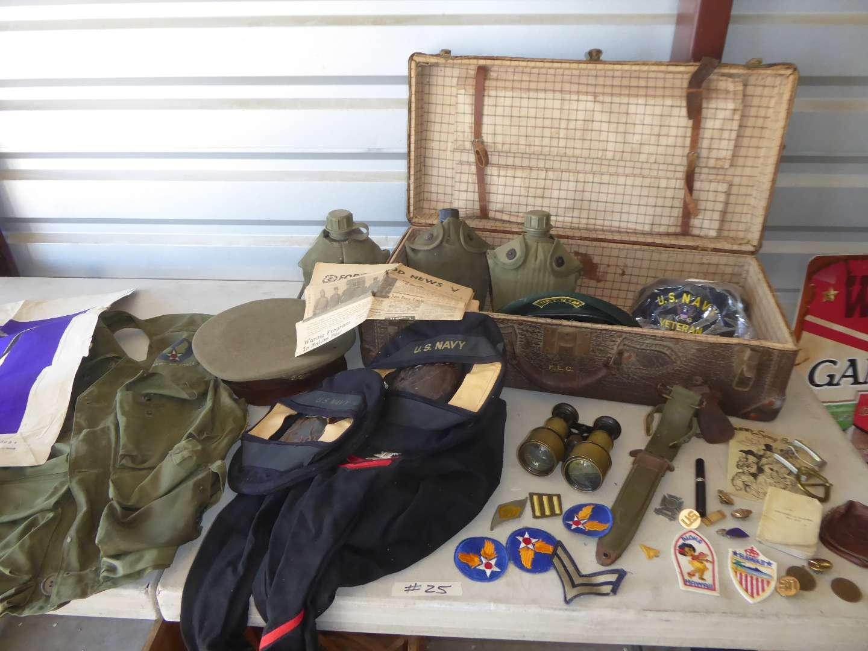 Lot # 25 -  Boyscouts Binoculars & Military Memorabilia (main image)