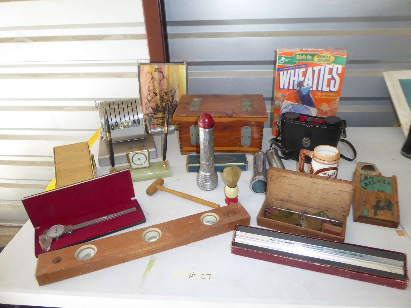 Lot # 27 - Vintage Collectibles Lot (Wheaties, Binoculars, Flashlights & More)  (main image)