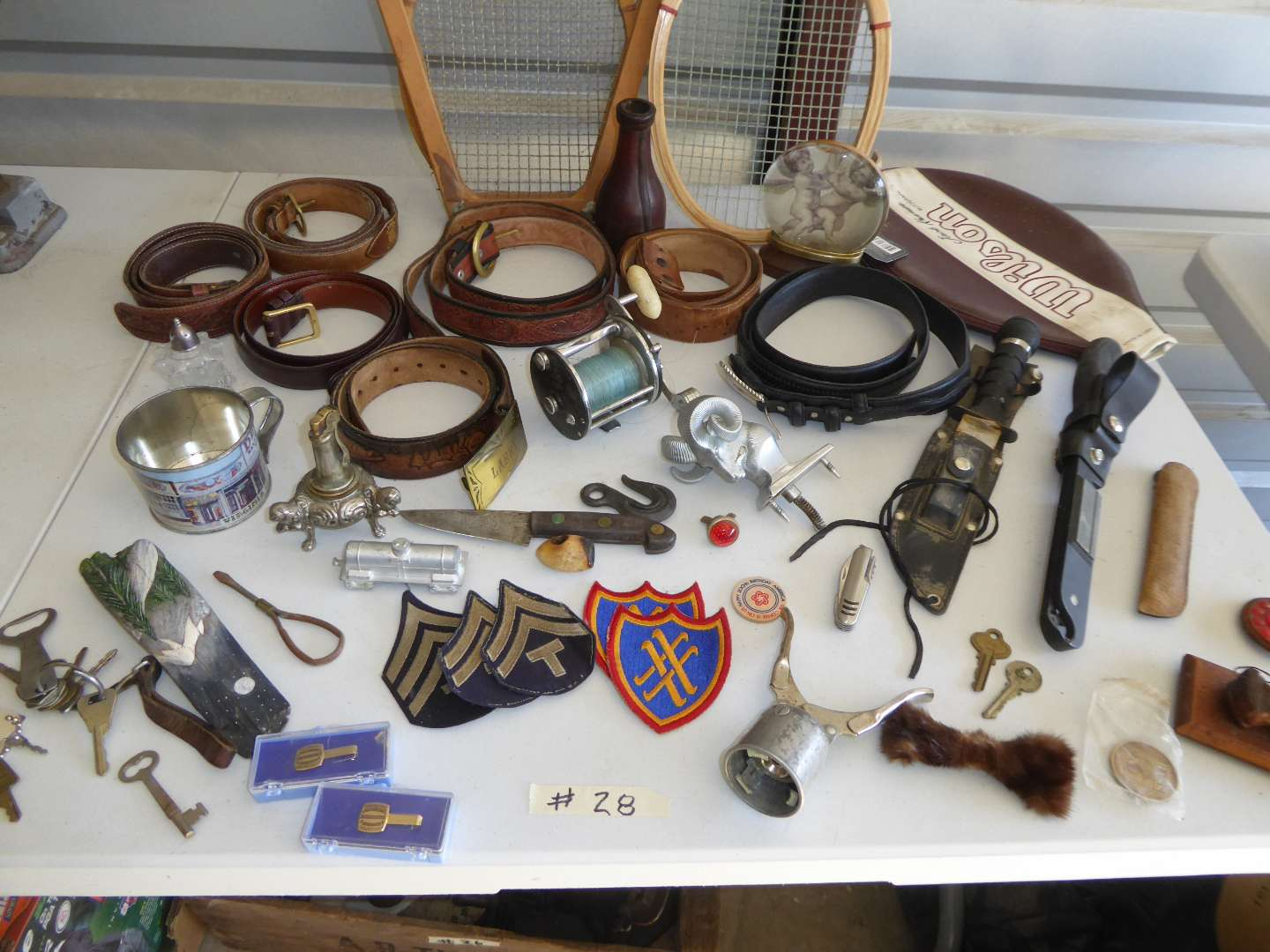 Lot # 28 - Belts, Patches Knives & Other Collectibles  (main image)