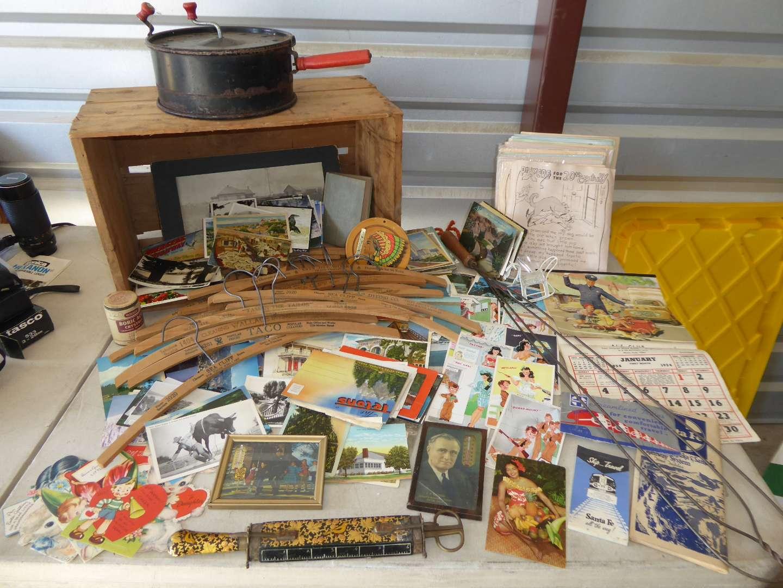 Lot # 31 - Paper Ephemera, Vintage Wood Hangers & More  (main image)