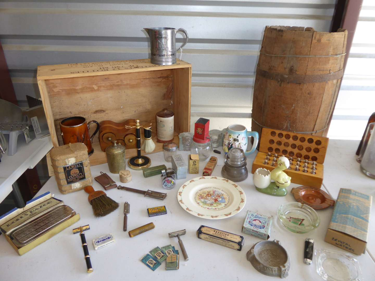 Lot # 32 - Vintage Collectibles Lot (Rolls Razor, Razors, Strop & More)  (main image)