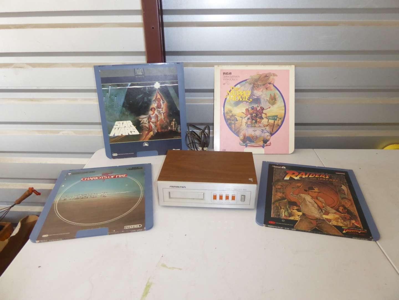 Lot # 38 - Sound Design 8-Track Player & Four Video Discs  (main image)