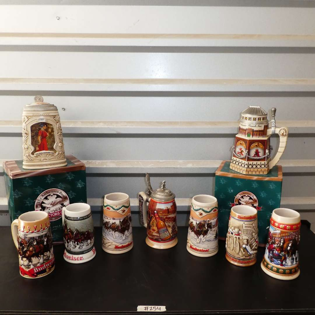 Lot # 254 - Vintage Collectible Anheuser-Busch Beer Steins (main image)