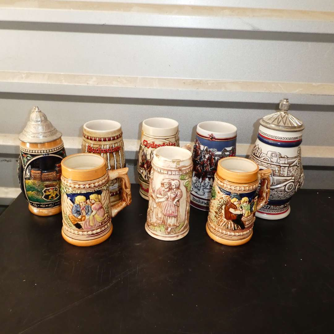 Lot # 257 - Collection of Vintage Beer Steins  (main image)