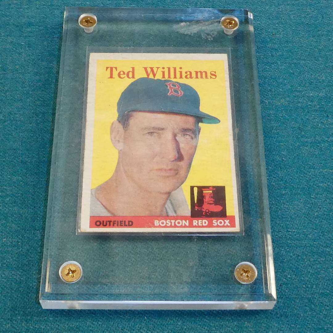 Lot # 271 - 1958 Topps #1 Ted Williams Baseball Card in Case  (main image)