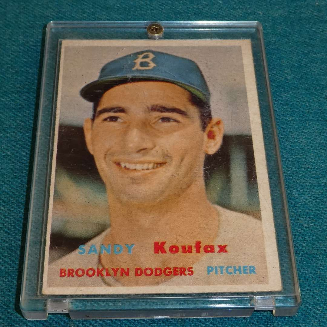 Lot # 275 - Topps #302 Sandy Koufax Baseball Card  (main image)