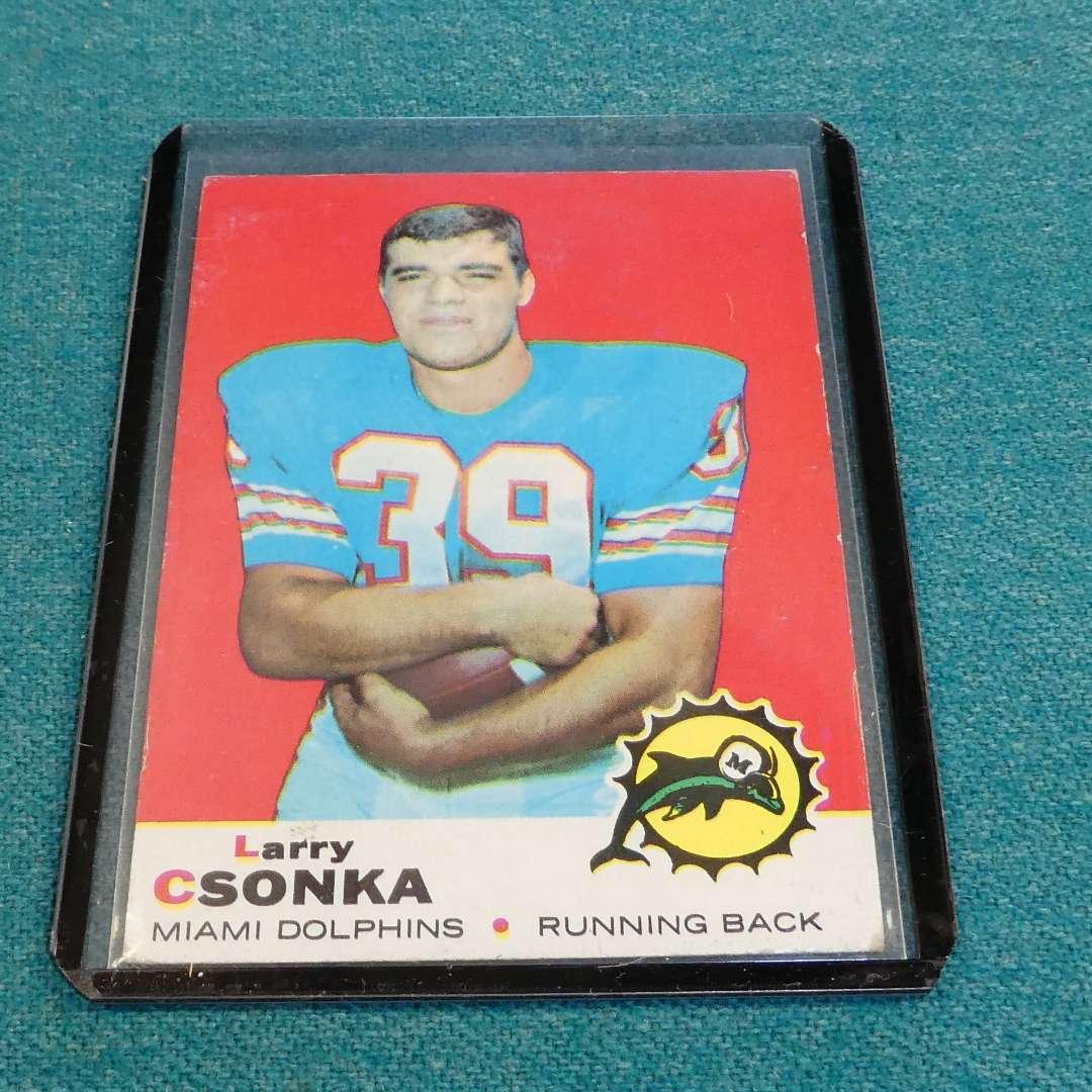 Lot # 279 - Topps #120 Larry Csonka Football Card  (main image)