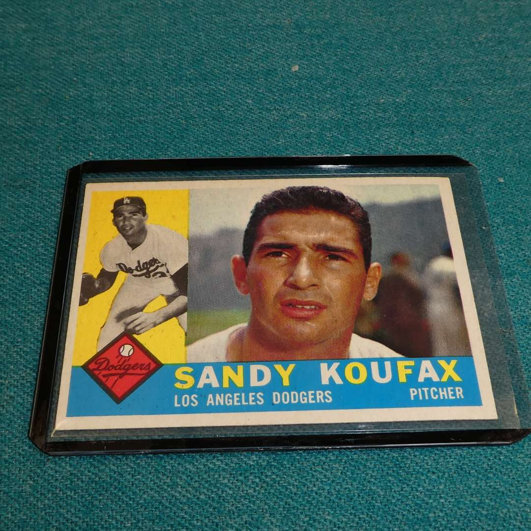 Lot # 281 - Topps #343 Sandy Koufax Baseball Card  (main image)