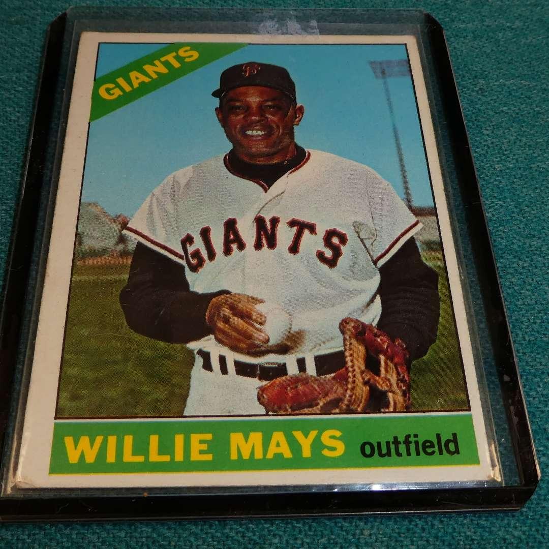 Lot # 283 - Topps #1 Willie Mays Baseball Card  (main image)