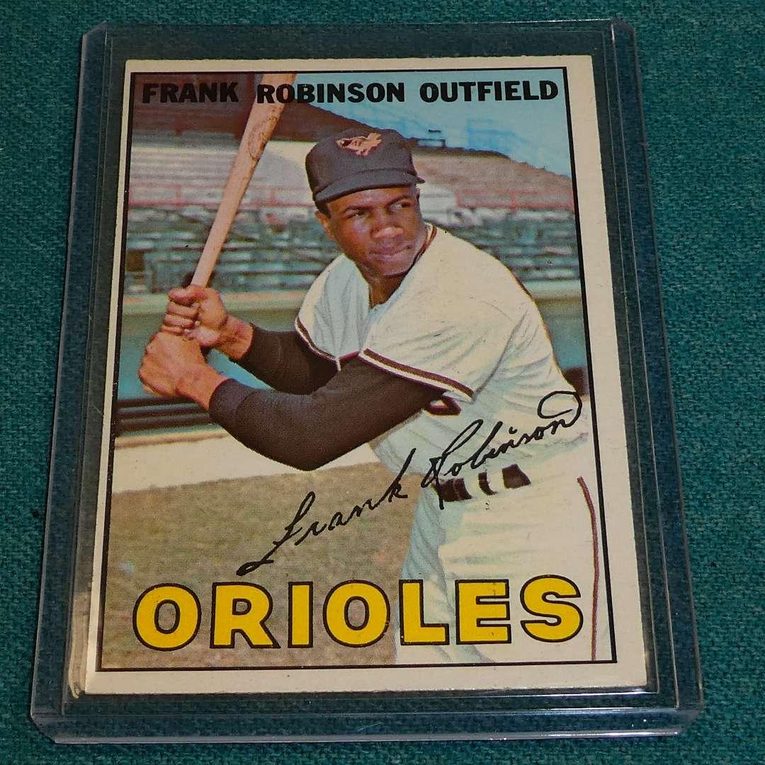 Lot # 285 - Topps #100 Frank Robinson Baseball Card (main image)